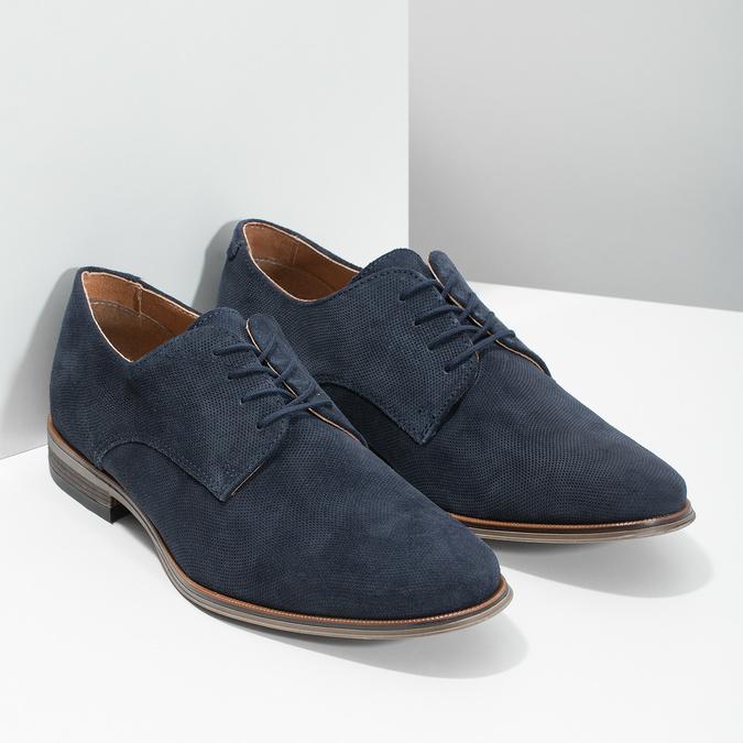 Niebieskie półbuty męskie bata, niebieski, 823-9616 - 26