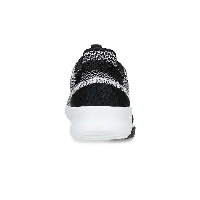 Czarno-białe trampki zwzorzystej dzianiny adidas, czarny, 809-1101 - 15
