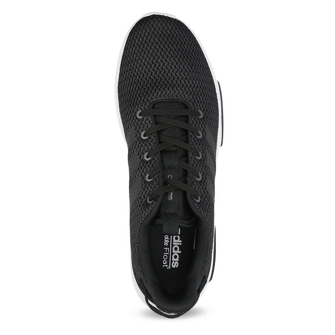 Czarne trampki męskie wsportowym stylu adidas, czarny, 809-6101 - 17