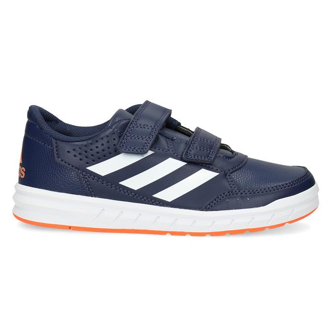 Granatowe trampki dziecięce na rzepy adidas, niebieski, 301-9151 - 19