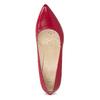 Czerwone skórzane czółenka wszpic insolia, czerwony, 724-5650 - 17