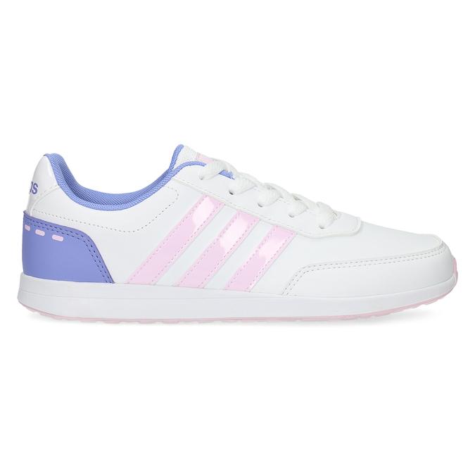 Białe trampki dziewczęce zróżowymi detalami adidas, biały, 401-1181 - 19