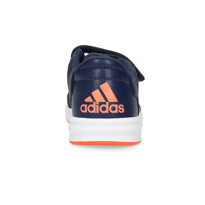 Granatowe trampki dziecięce na rzepy adidas, niebieski, 301-9151 - 15