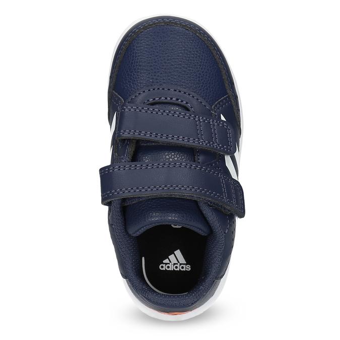 Granatowe trampki na rzepy adidas, niebieski, 101-9151 - 17