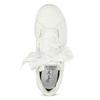 Białe trampki zsatynowymi wstążkami pepe-jeans, biały, 541-1076 - 17