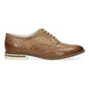 Brązowe skórzane półbuty damskie bata, brązowy, 526-3649 - 19