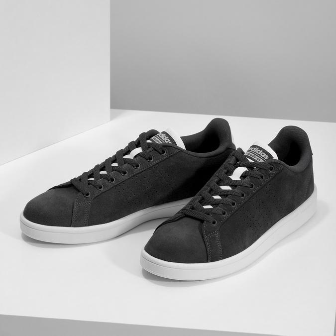 Nieformalne zamszowe trampki adidas, czarny, 803-6394 - 16