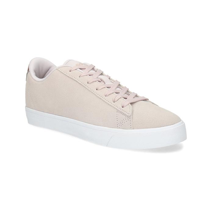 Różowe zamszowe trampki adidas, różowy, 503-2554 - 13