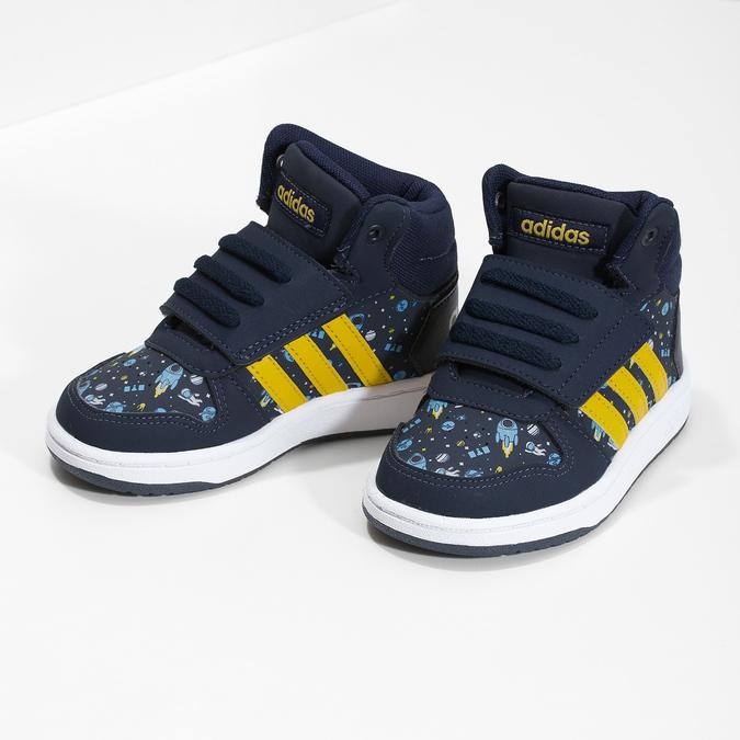 Niebieskie trampki chłopięce za kostkę adidas, niebieski, 101-9125 - 16