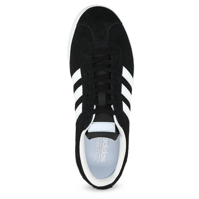 Czarne zamszowe trampki damskie adidas, czarny, 503-6379 - 17