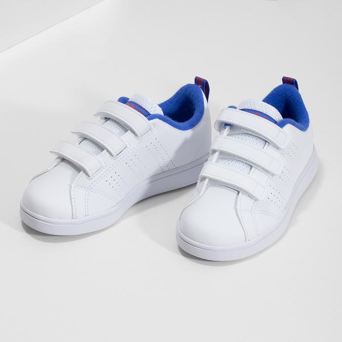 Białe trampki dziecięce na rzepy adidas, biały, 301-1968 - 16