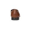 Brązowe skórzane półbuty typu angielki zfakturą bata, brązowy, 826-3945 - 15