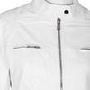 Biała kurtka damska ze skóry ekologicznej bata, biały, 971-1206 - 16