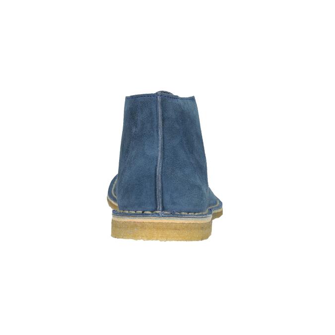 Granatowe skórzane buty pustynne bata, 823-9622 - 15