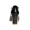Lakierowane czółenka damskie insolia, czarny, 721-6611 - 16