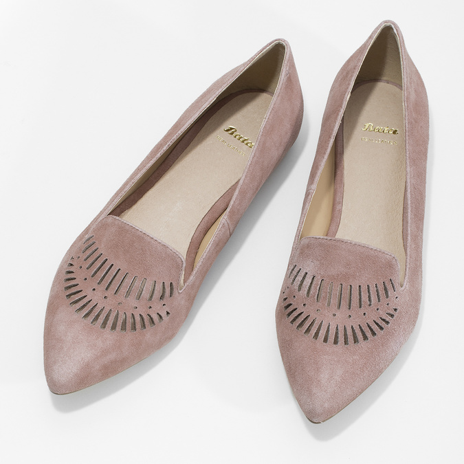Skórzane loafersy damskie bata, 523-5659 - 16