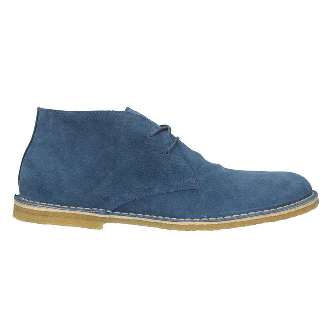 Granatowe skórzane buty pustynne bata, 823-9622 - 16