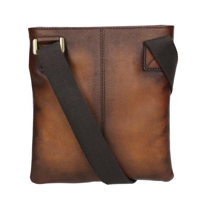 Skórzana torba męska typu crossbody bata, brązowy, 964-3284 - 16
