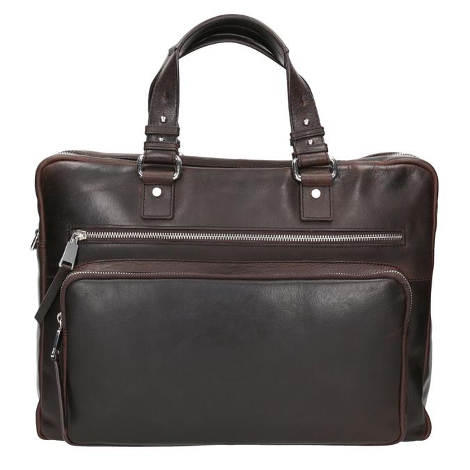 Skórzana teczka męska na dokumenty bata, brązowy, 964-4287 - 26