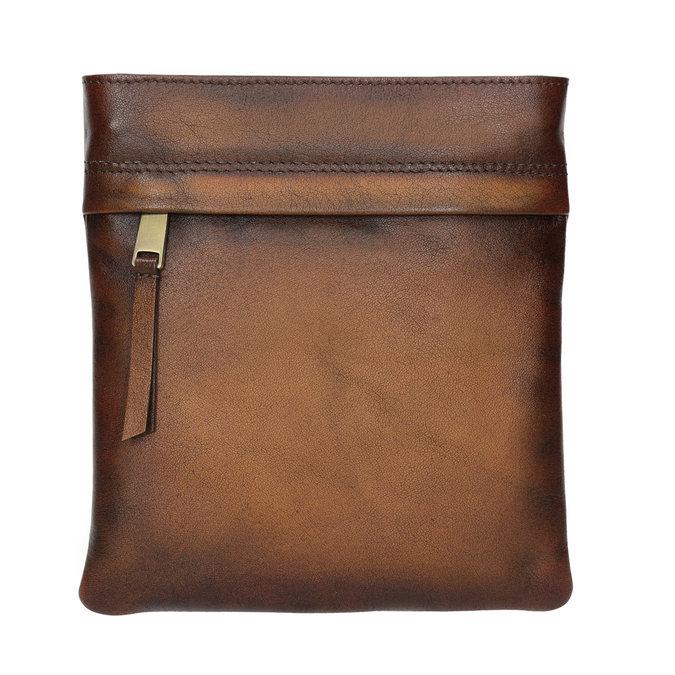 Skórzana torba męska typu crossbody bata, brązowy, 964-3284 - 26