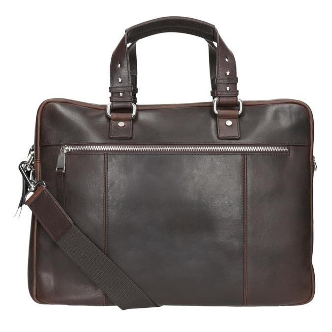 Skórzana teczka męska na dokumenty bata, brązowy, 964-4287 - 16