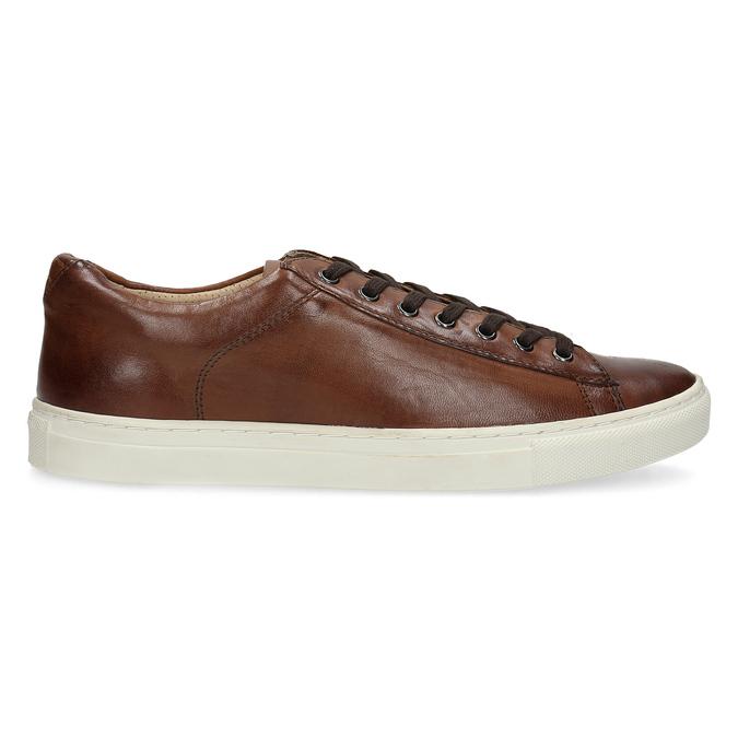 Skórzane trampki męskie bata, brązowy, 846-4648 - 19