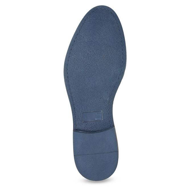 Brązowe półbuty ze skóry, zpodeszwą wpaski bata, brązowy, 826-4790 - 18