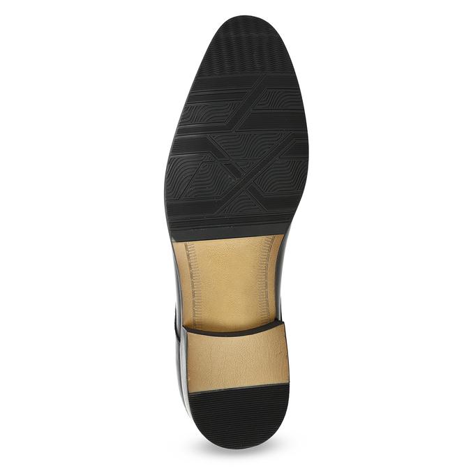 Skórzane półbuty męskie typu angielki bata, czarny, 824-6233 - 18