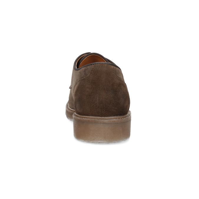 Brązowe zamszowe półbuty bata, brązowy, 823-4626 - 15