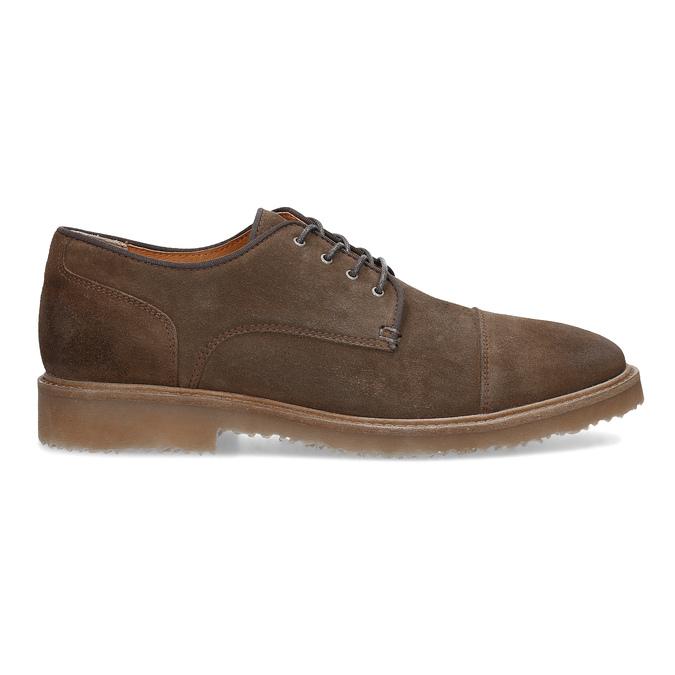 Brązowe zamszowe półbuty bata, brązowy, 823-4626 - 19
