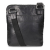 Czarna skórzana torba typu crossbody bata, czarny, 964-6288 - 16