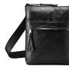 Czarna skórzana torba typu crossbody bata, czarny, 964-6288 - 15