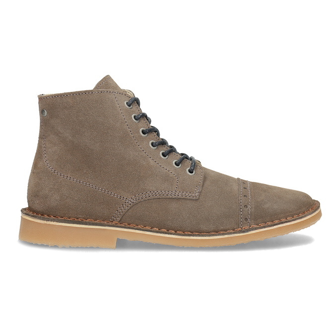Skórzane buty męskie za kostkę bata, brązowy, 823-8629 - 19