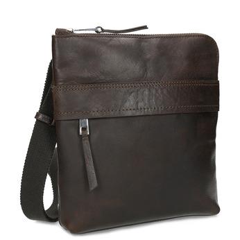 Brązowa skórzana torba typu crossbody bata, brązowy, 964-4288 - 13