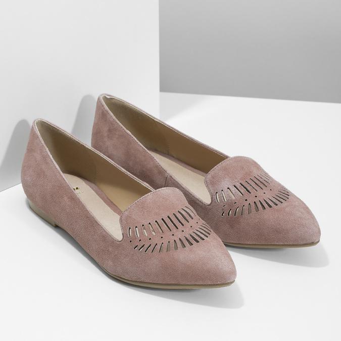 Skórzane loafersy damskie bata, 523-5659 - 26