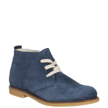 Skórzane buty pustynne dla dzieci mini-b, niebieski, 313-9144 - 13