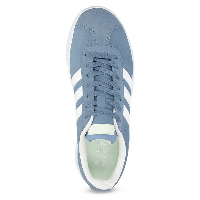 Błękitne zamszowe trampki adidas, niebieski, 503-2379 - 17