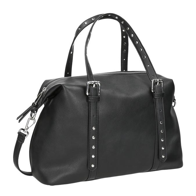 Czarna torebka zmetalowymi ćwiekami bata, czarny, 961-6834 - 13