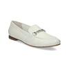 Skórzane mokasyny damskie zwędzidłami bata, biały, 516-1615 - 13