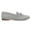 Szare skórzane mokasyny bata, szary, 513-2615 - 19