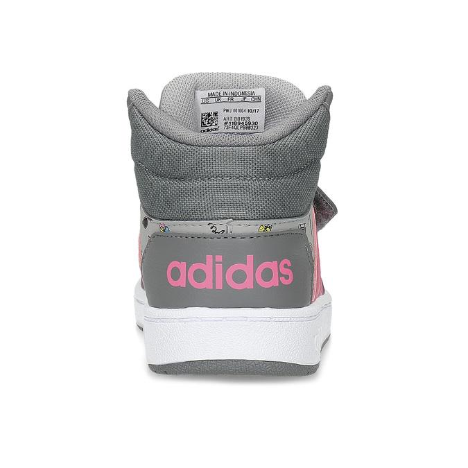 Szare trampki wdeseń, za kostkę adidas, szary, 101-2125 - 15