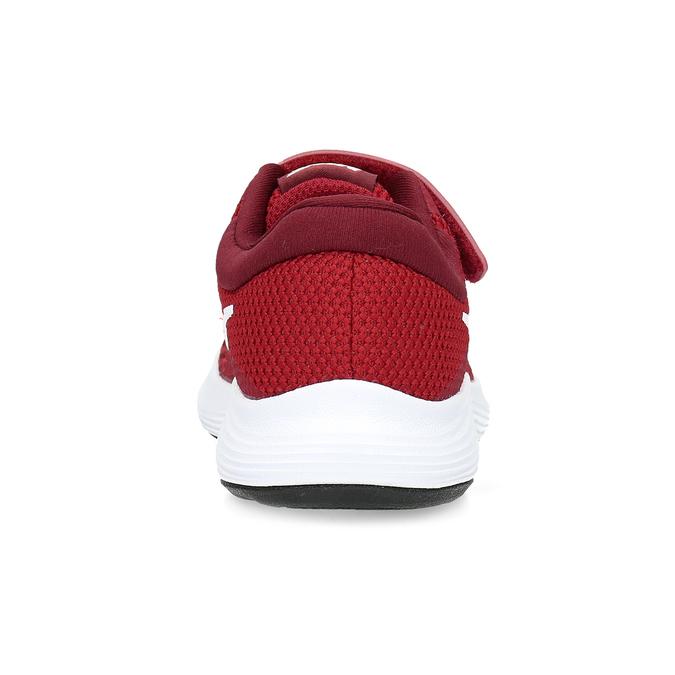 Czerwone trampki dziecięce na rzepy nike, czerwony, 309-5179 - 15