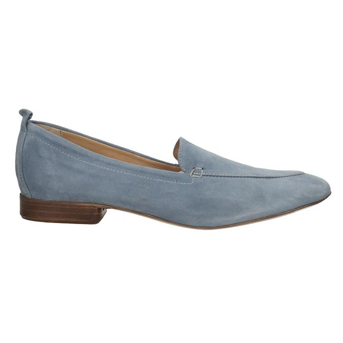 Nieformalne zamszowe mokasyny bata, niebieski, 516-9618 - 16