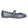 Niebieskie skórzane baleriny dziewczęce mini-b, niebieski, 326-9602 - 26