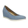 Niebieskie czółenka damskie na koturnach bata, niebieski, 629-9636 - 13