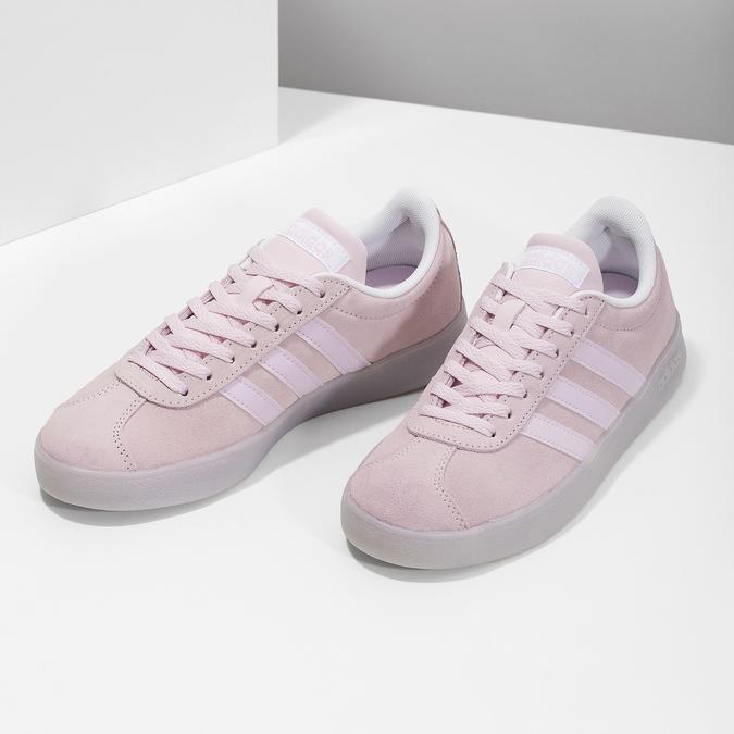 Różowe zamszowe trampki adidas, różowy, 503-5579 - 16