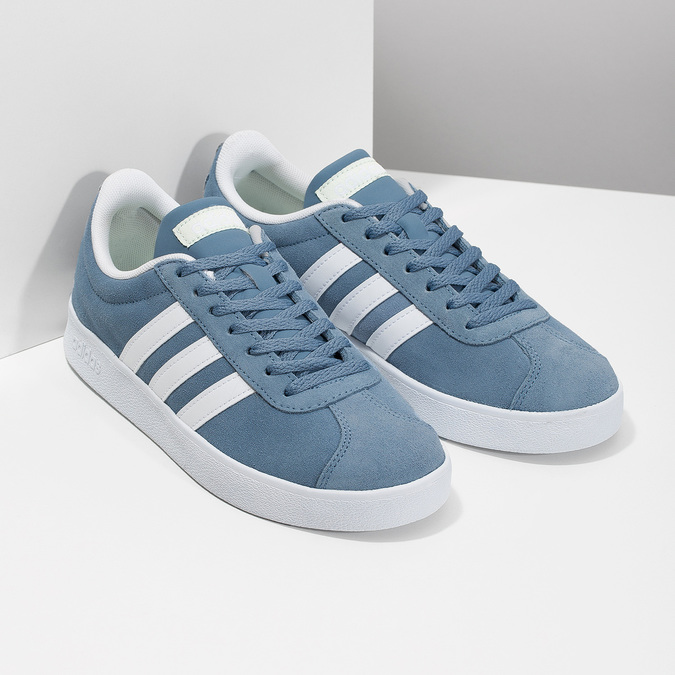 Błękitne zamszowe trampki adidas, niebieski, 503-2379 - 26