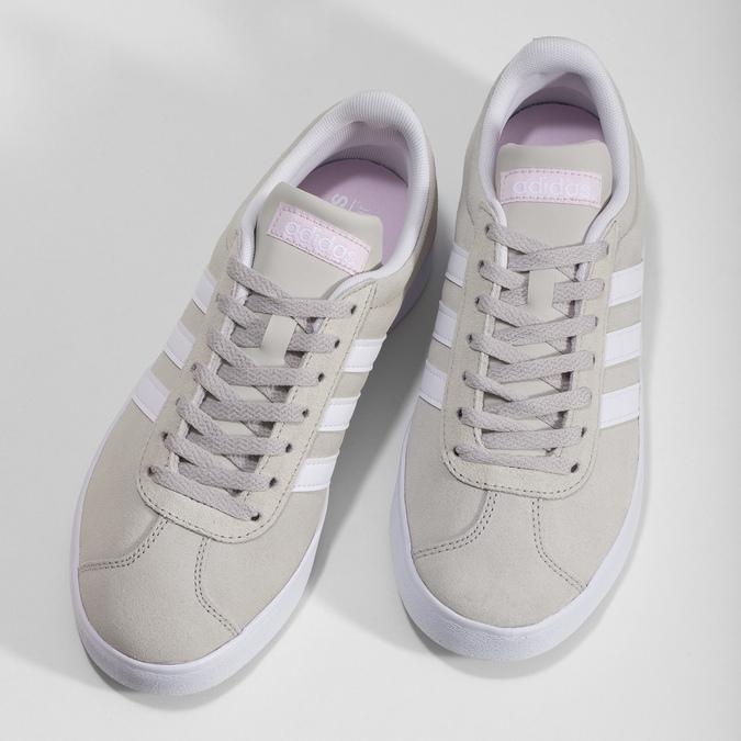 Beżowe zamszowe trampki adidas, beżowy, 503-8379 - 16