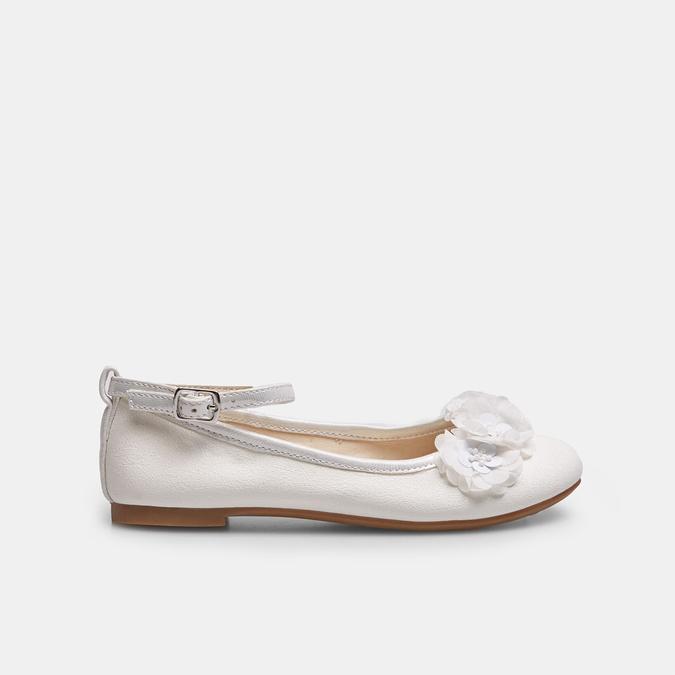 Białe baleriny zkwiatkami mini-b, biały, 321-1162 - 13