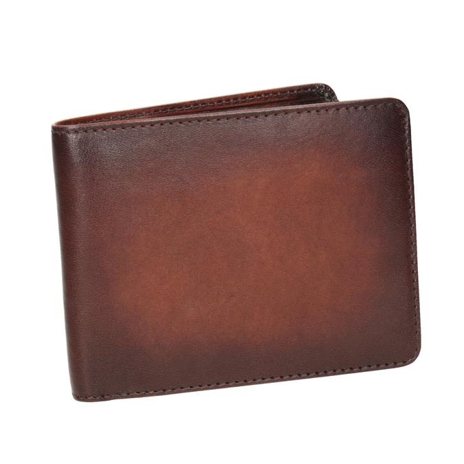 Skórzany portfel męski zefektem ombré bata, brązowy, 944-3193 - 13